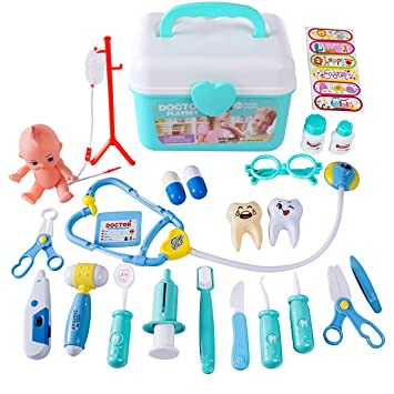 OviTop - Mallette Docteur - Dînette - Lot DE 26 Dinette Enfant - Jouets d  5dcbacb6bb99