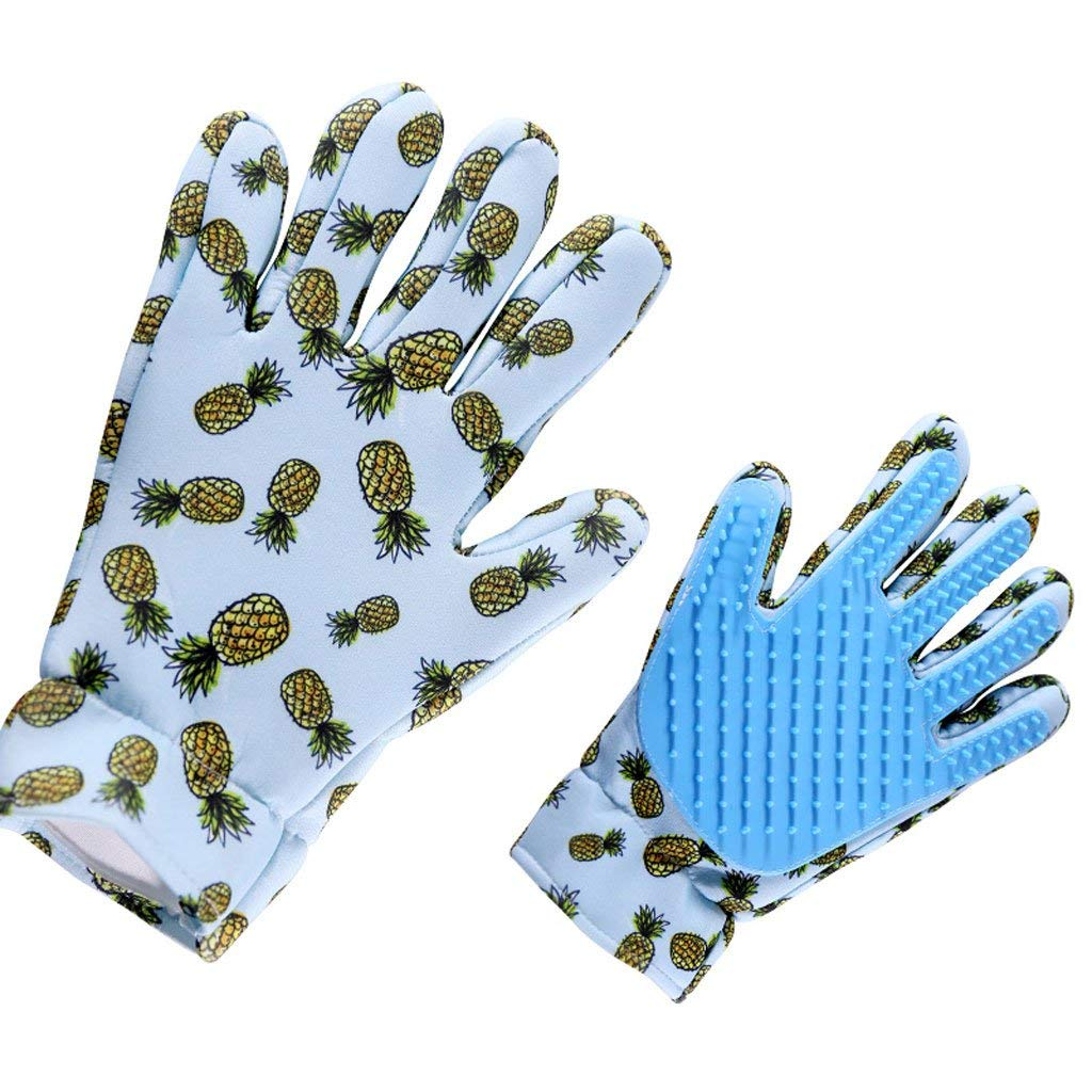 Kwekjren29921 Pet Bed Pet Brush Pet Comb Suede Combing Gloves Breathable Non-Stick Hair Easy to Clean (Left Hand) (Color : Blue(Left Hand))