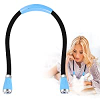 LED Hug Light, Rechargeable Neck Book Light Night Reading Lamp, Hands Free, 4 LED Bulbs, 4 Adjustable Brightness, USB Cable and Rechargeable Battery Included by YOMEKOLY