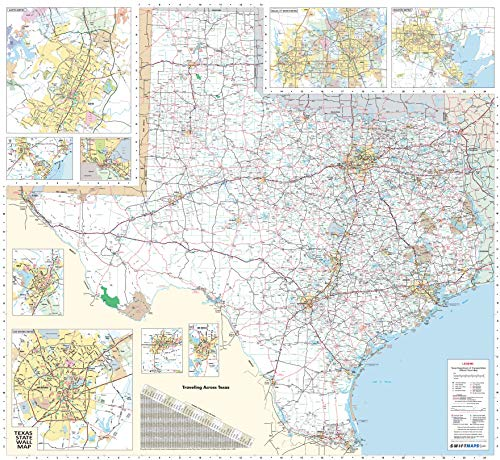 36x48 Texas State Official Executive Laminated Wall Map (Texas Poster Map)