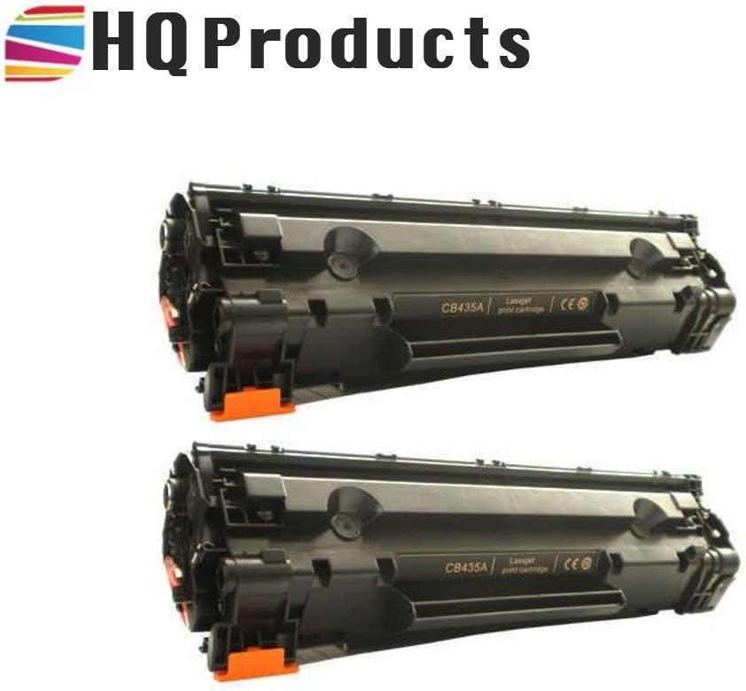 Hq Remanufactured Toner Cartridge Replacement for HP 35A Black, 2-Pack CB435A