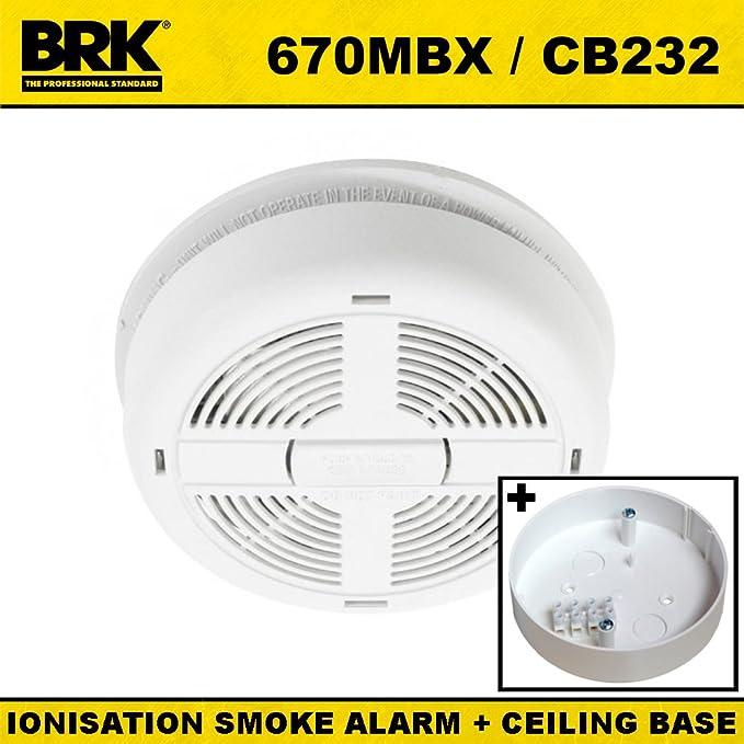hard-wired - Detector de humos con 9 V batería de reserva y techo Base Pattress: Amazon.es: Bricolaje y herramientas