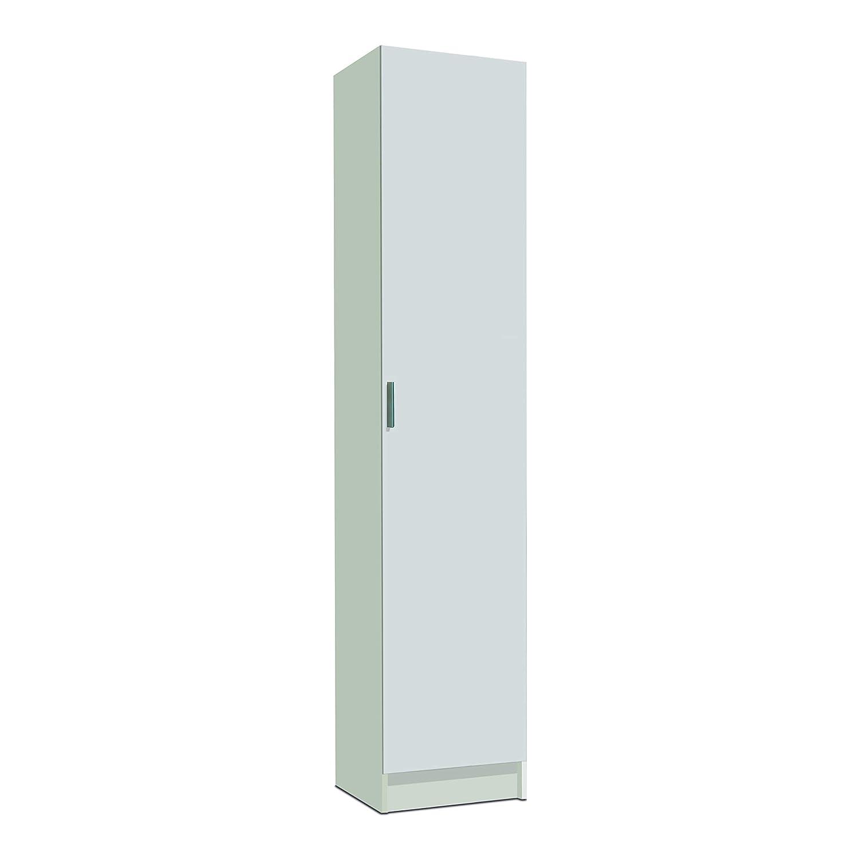FORES - 007141O - Mueble armario multiusos, 1 puerta, color Blanco ...