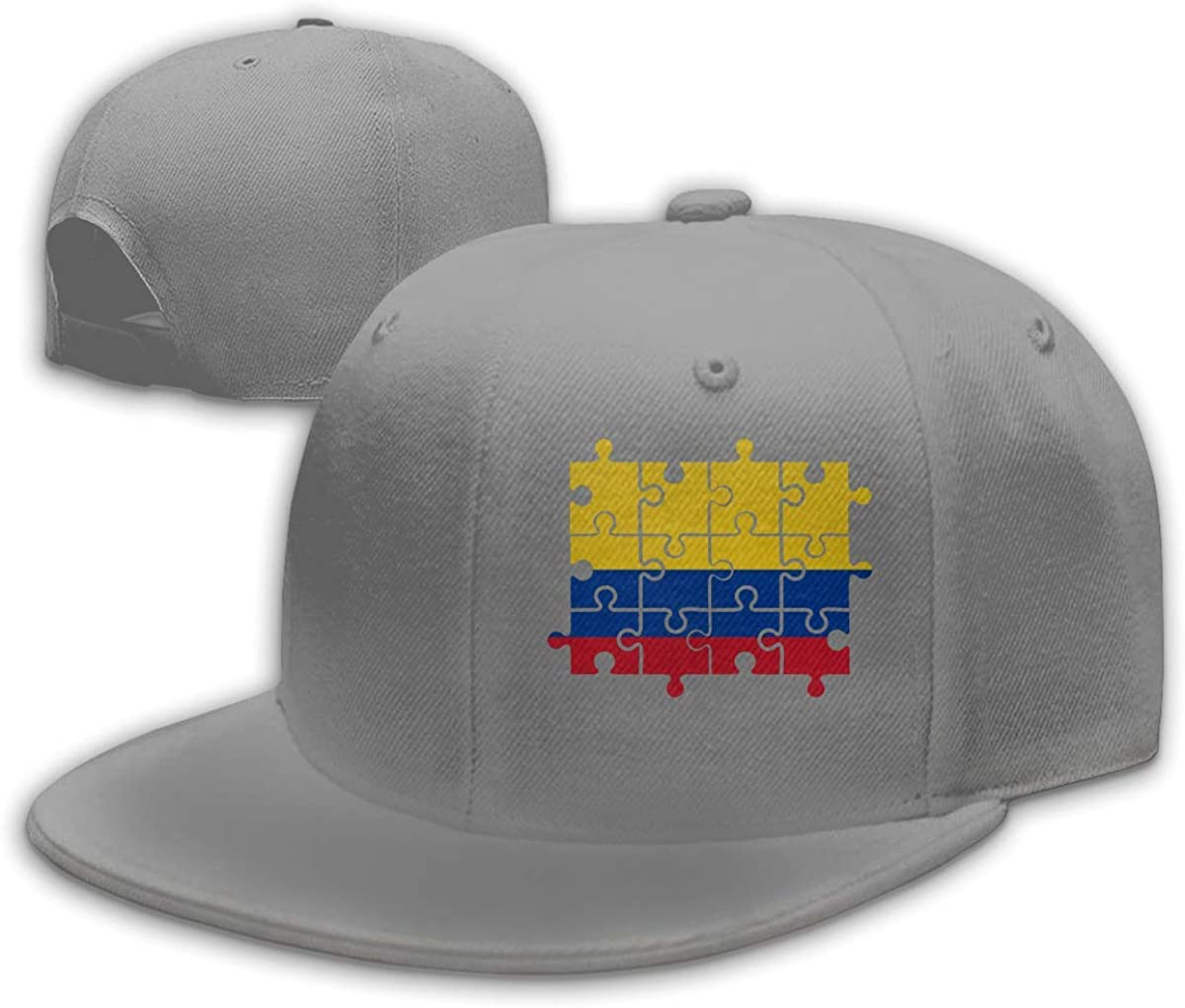 Adult Baseball Gorra, Colombia Flag Puzzle Hip Hop Hats Adjustable ...