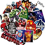 Marvel Avengers Stickers for Laptop,Graffiti Waterproof Stickers for Hydro flasks Water Bottles Skateboard Bike Luggage,Superhero Decals Party Favors for Teens,Adults,Boys and Girls Sticker(130pcs)
