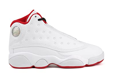 "online store 21893 edf74 Jordan Retro 13""History of Flight White/Metallic Silver (Little Kid) ("