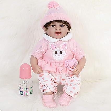 Reborn Baby Dolls 16inch Newborn Babies Doll+Clothes Vinyl Silicone Xmas Gifts