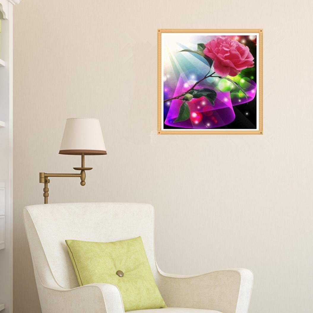 TM 5D DIY Crystal Diamond Painting Counted Paint by Number Kits Cross Stitch Square Diamond Embroid 2535CM, J Diamond Painting Cross Stitch,Elevin