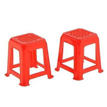 Blesiya Lot de 2pcs Tabouret Chaise En Plastique Décor Salon ...