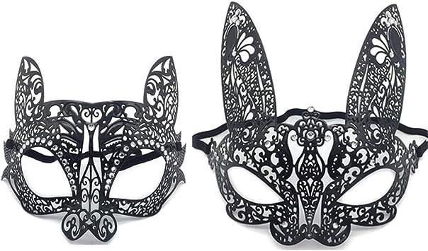 VJUKUBCUTE Pack De 2 Mujeres Atractivas Gato Negro Y Conejo ...