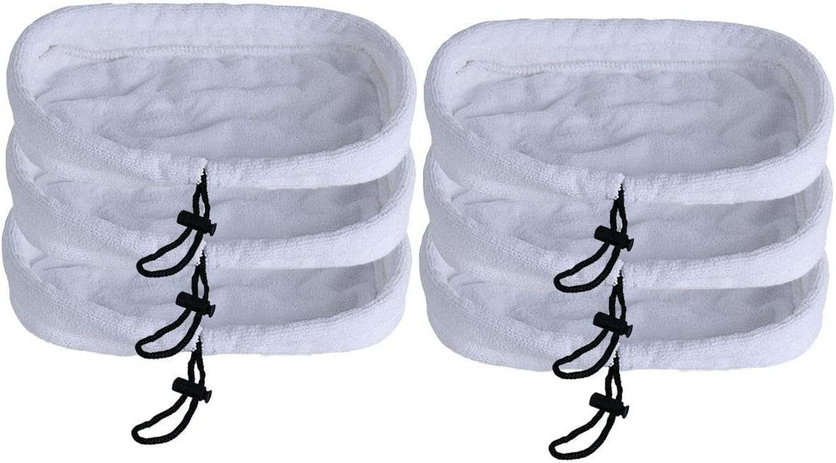 NEW 6 Washable Pads Steam Mop For Bissell 1867 203-2158, 2032158, 3255