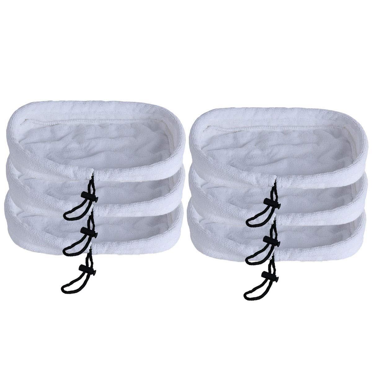 6枚の洗濯可能パッドスチームモップ Bissell 1867 203-2158 2032158用 3255 B07JPKPN3J