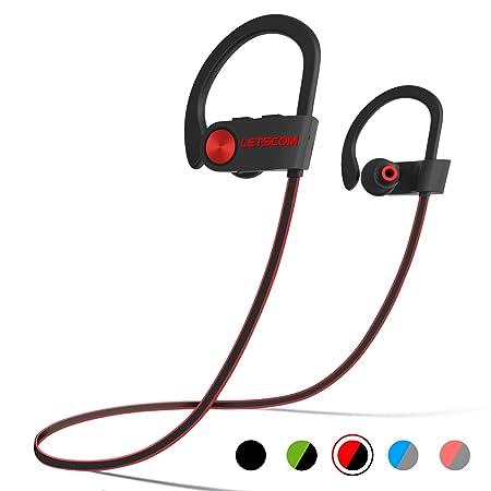 LETSCOM Bluetooth Kopfhörer in Ear, IPX7 wasserdicht kabellos Sport Kopfhörer, Bluetooth 4.1, CVC 6.0 Geräuschunterdrückung f