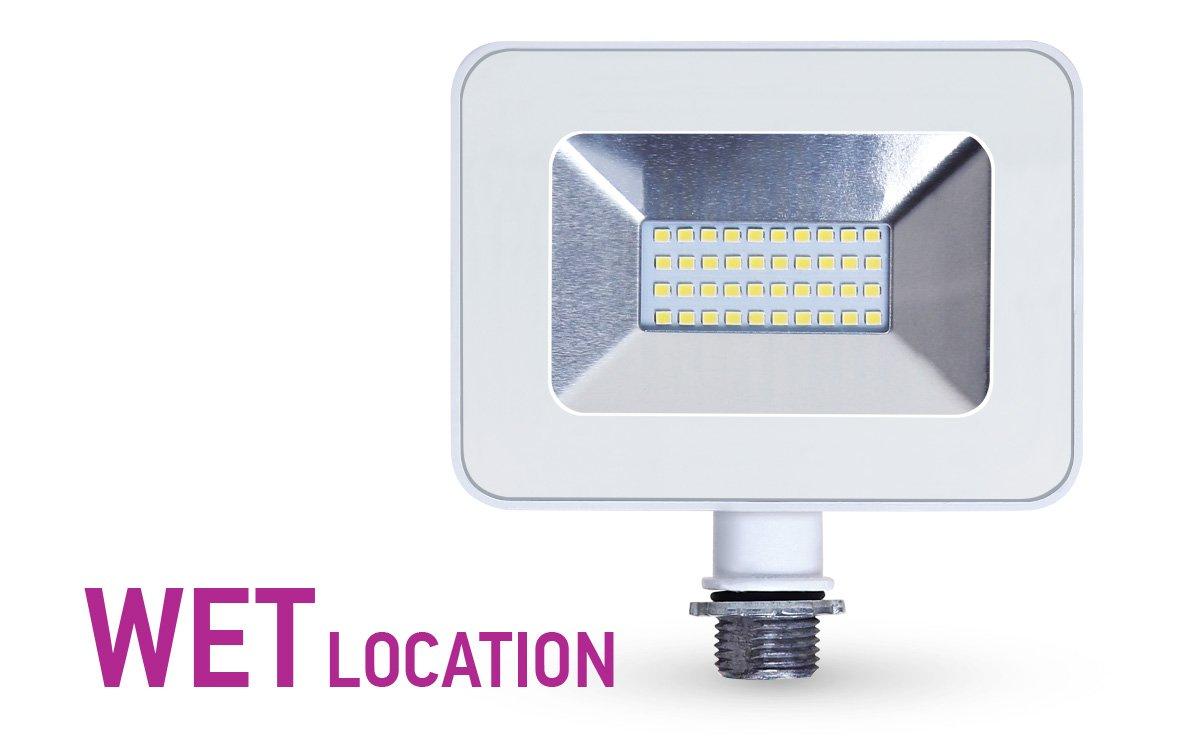 LLT 20W LED Flood Light with Knuckle Mount Super Slim SMD Outdoor Landscape Security Waterproof 5000K (Daylight) White