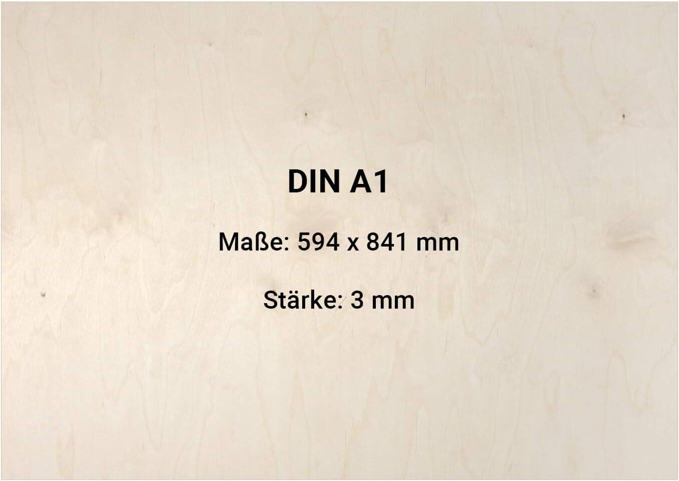 20 St/ück 297mm x 210mm 3mm Sperrholz Platte DIN A1 A2 A3 A4 A5 Multiplexplatten Zuschnitt Holz unbehandelt DIN A4