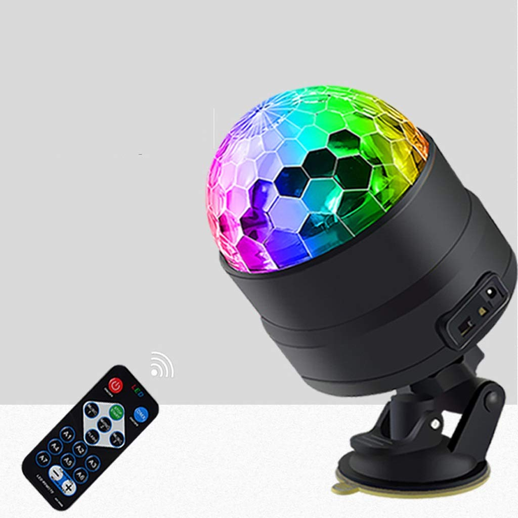 RXY-(^_^) Car Interior Atmosphere Lights Car Music Rhythm DJ Lights Wireless Remote Control LED Lights USB Sound Control Decorative Flash