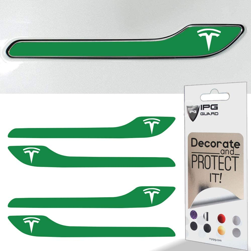 with Tesla Logo IPG for Tesla Model 3 Door Handle Decal Sticker Wrap Kit Set of 4