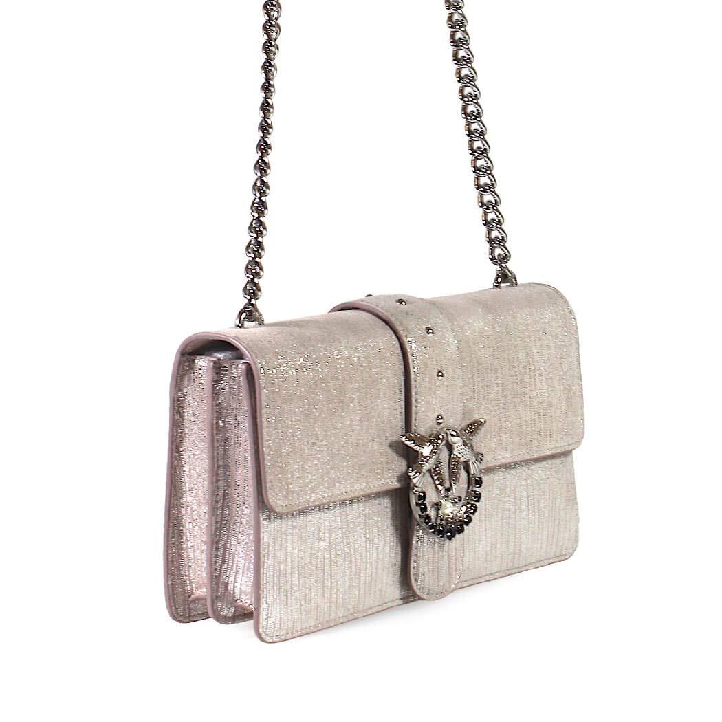 Pinko Accessori da Donna Borsa Love Bag Sparkly Rosa Chiaro Autunno Inverno  2019  Amazon.it  Abbigliamento 89de686960b