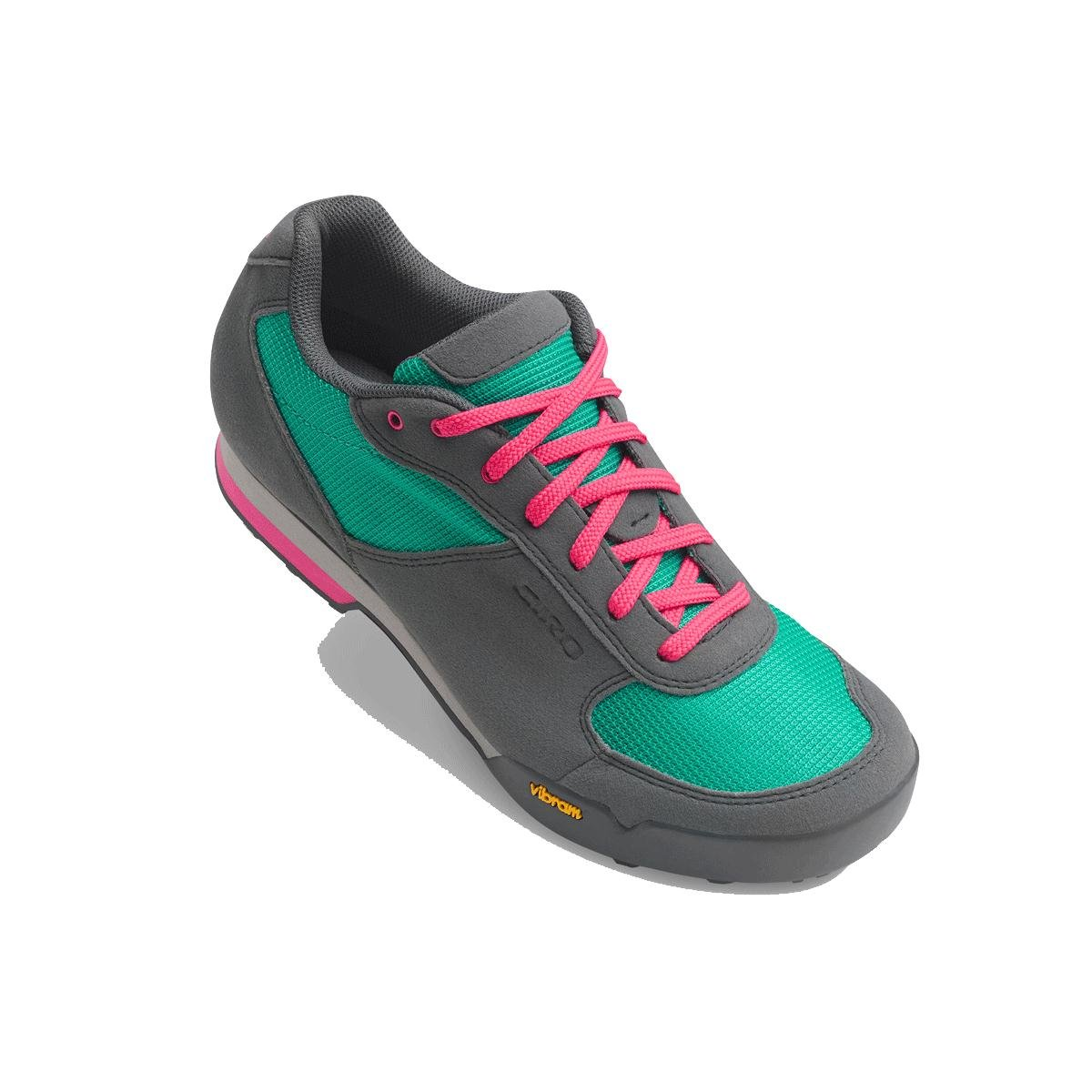 Turquoise Bright Pink Giro Petra VR shoes