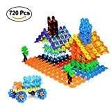 NextX 720 Pieces Building Blocks Toy Set Building Discs Brain Flakes ,STEM Toys for Preschool Boys and Girls
