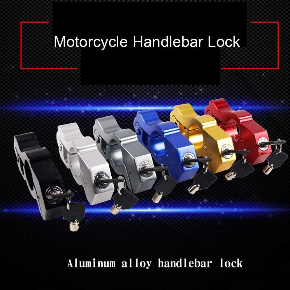 Motorbike Brake Lock Motorbike Motorcycle Handlebar Throttle Grip Lock Anti-theft Brake Level Lock for Bike Scooter Moped ATV,Black