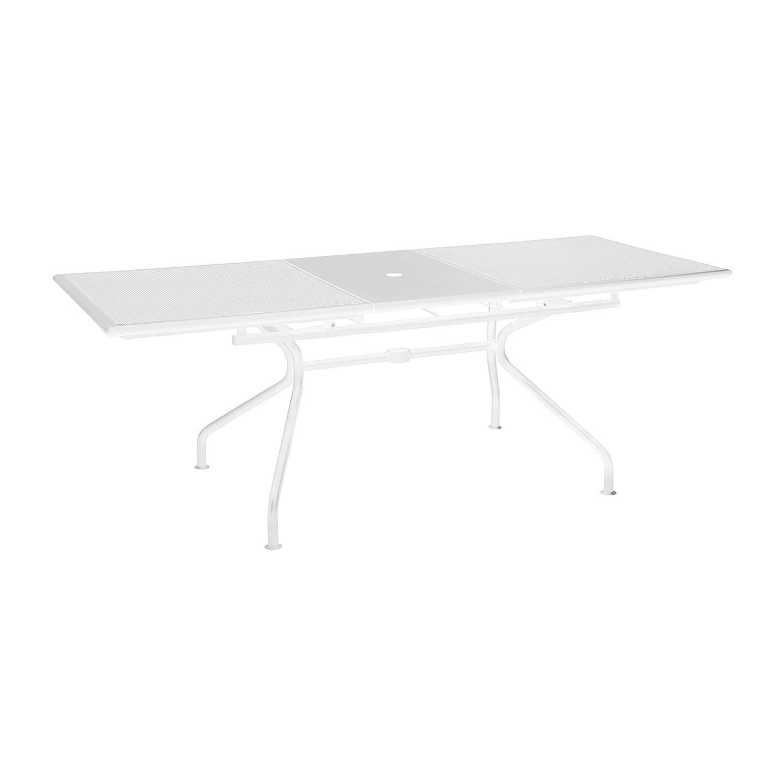 Großartig emu Athena Gartentisch, weiß Stahl ausziehbar Größe 2 BxH 90x75cm  RM56