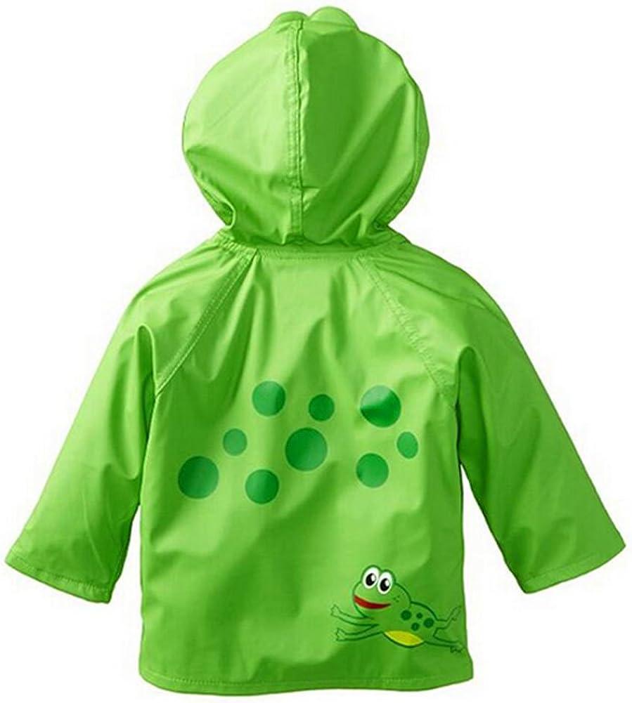 Zhuhaixmy Kids Rain Jacket Cartoon Hooded Raincoat Impermeabile Boys Girls Waterproof Outwear Cappotti Poncho