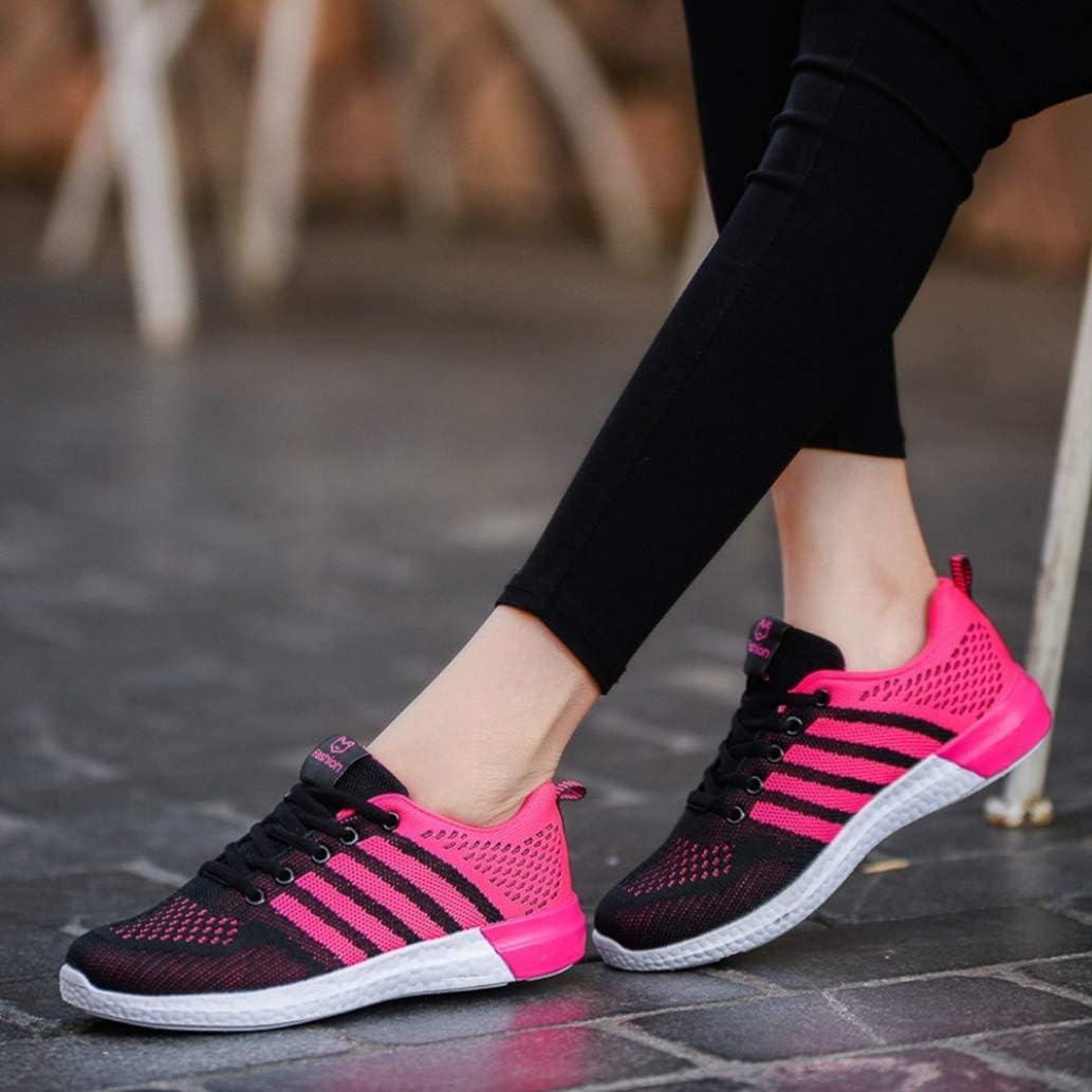 Femmes Baskets Mode Été Respirant Baskets À Lacets Chaussures Décontractées Dames Appartements Confort Chaussures De Marche Une Rose Rouge