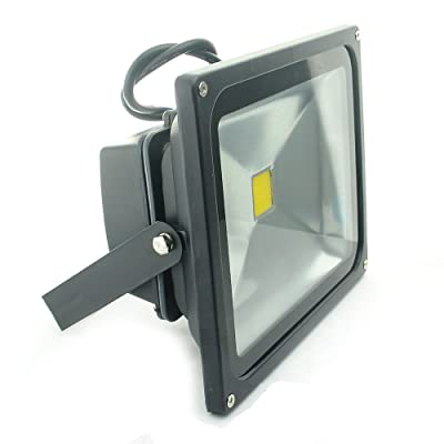 QUANS 30W Watt Warm White 12V 24V AC DC Ultra Bright LED Security Wash Flood Light Floodlight Lamp High Power Black Case Waterproof IP65 Work in The Rain Superbright 3000K