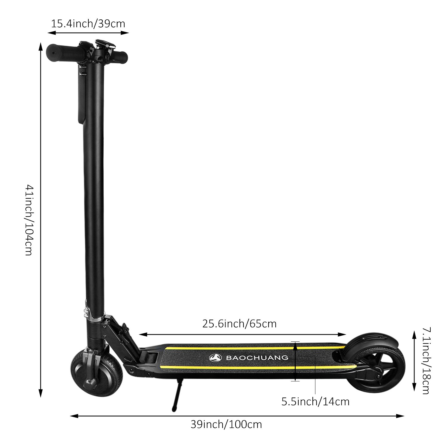 Amazon.com: Eléctrico adulto baochuang Kick Scooter, Scooter ...