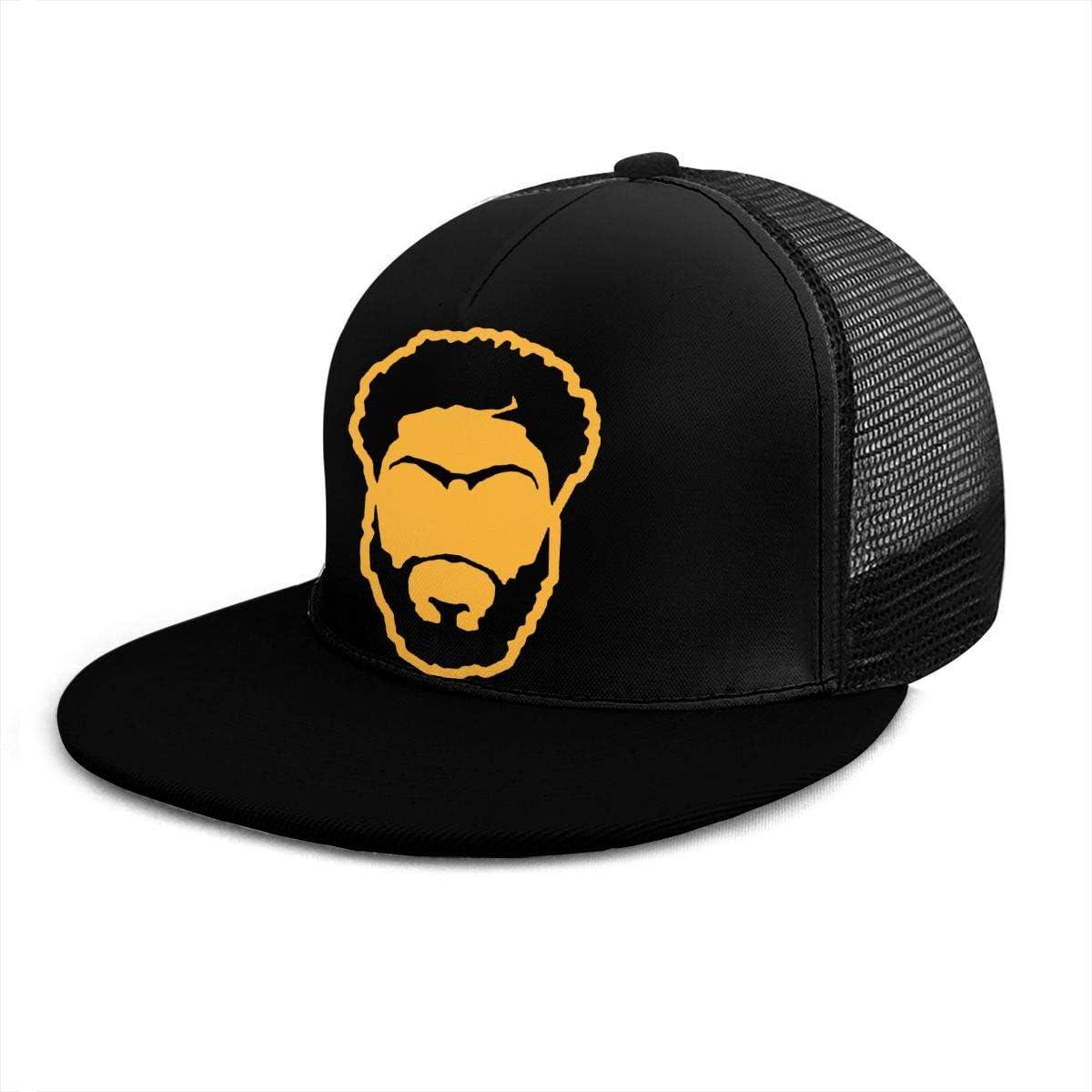 Casual Plain Los Angeles Davis Face Dad Hats Unisex Adjustable Baseball Cap Black