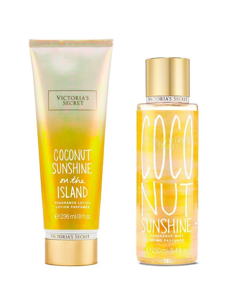 Victoria Secret Coconut Sunshine Body Lotion and Body Mist Set