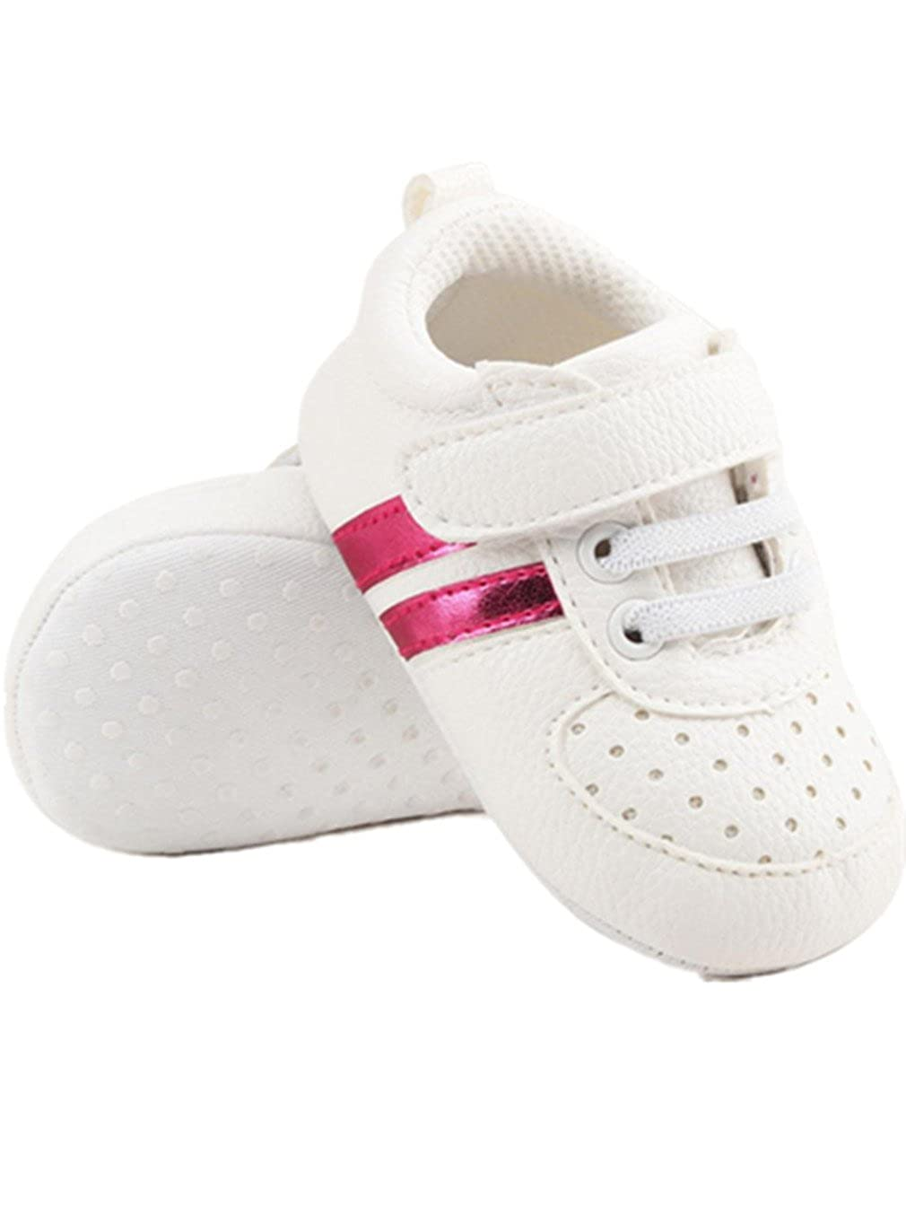 Sunward Baby Boys Girls Shoes Leather Toddler Sneakers Anti-Slip Soft Sole Infant First Walkers