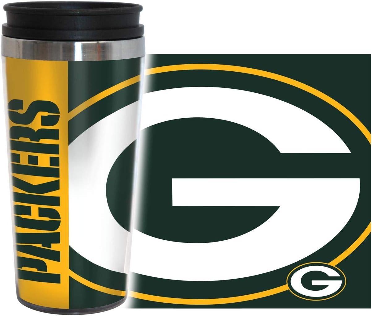Team Color Boelter Brands NFL Atlanta Falcons 14 Ounce Travel TumblerFull Wrap Hype 14 Ounce