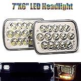 Pair 7x6 LED Rectangular Headlights Sealed Beam Headlamp For International IHC Headlight Assembly 9200 9900 9400i
