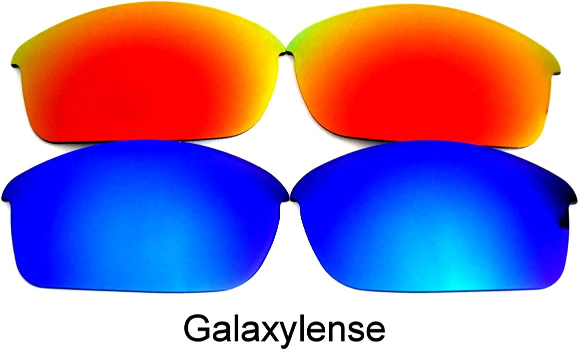 81005961be Amazon.com  Galaxy Replacement Lenses for Oakley Flak Jacket Blue Red Color  2 Pairs