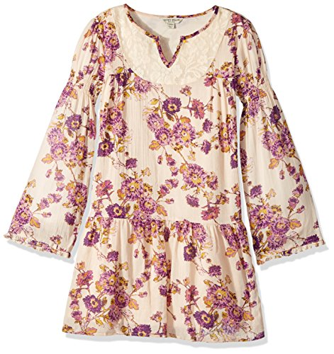 Lucky Brand Big Girls' Long Sleeve Fashion Dress, Charlene Biscotti, X-Large (16) by Lucky Brand