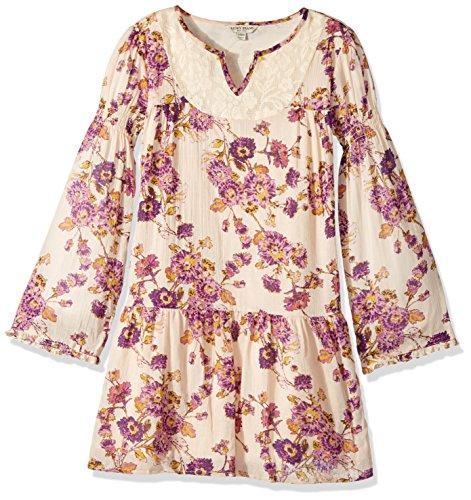Lucky Brand Little Girls'Long Sleeve Fashion Dress, Charlene Biscotti, 6X ()