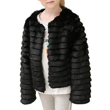 Kinder Baby Mädchen Kunstpelz Weste Weste warme Wintermantel Outwear Jacke
