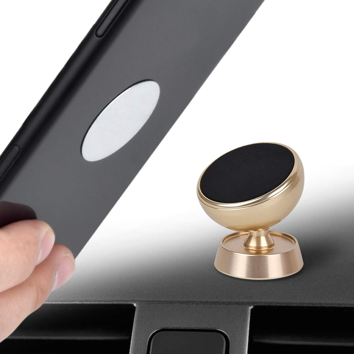 Magnetic Car Phone Mount Universal Magnetic Dashboard Phone Car Mounts Holder Car Cell Phone Mount Holder Compatible Samsung Galaxy S9 S8 S7 S6 Note 8 5 4 Tablet Cradle Mount with Super Strong LG