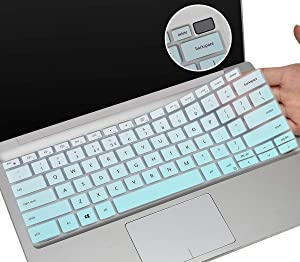 "CaseBuy Keyboard Cover for Dell XPS 7390 2-in-1 13.4"" Touch-Screen Laptop, Ultra Thin Silicone Protective Skin, DELL XPS 13 Keyboard Cover, Ombre Mint"