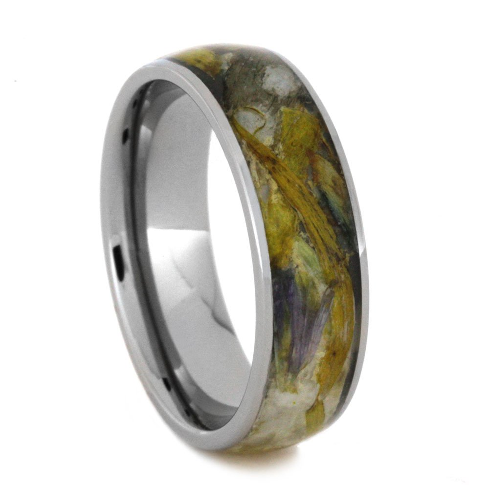 Flower Petal 6mm Comfort-Fit Titanium Band, Size 10.75 by The Men's Jewelry Store (Unisex Jewelry) (Image #1)