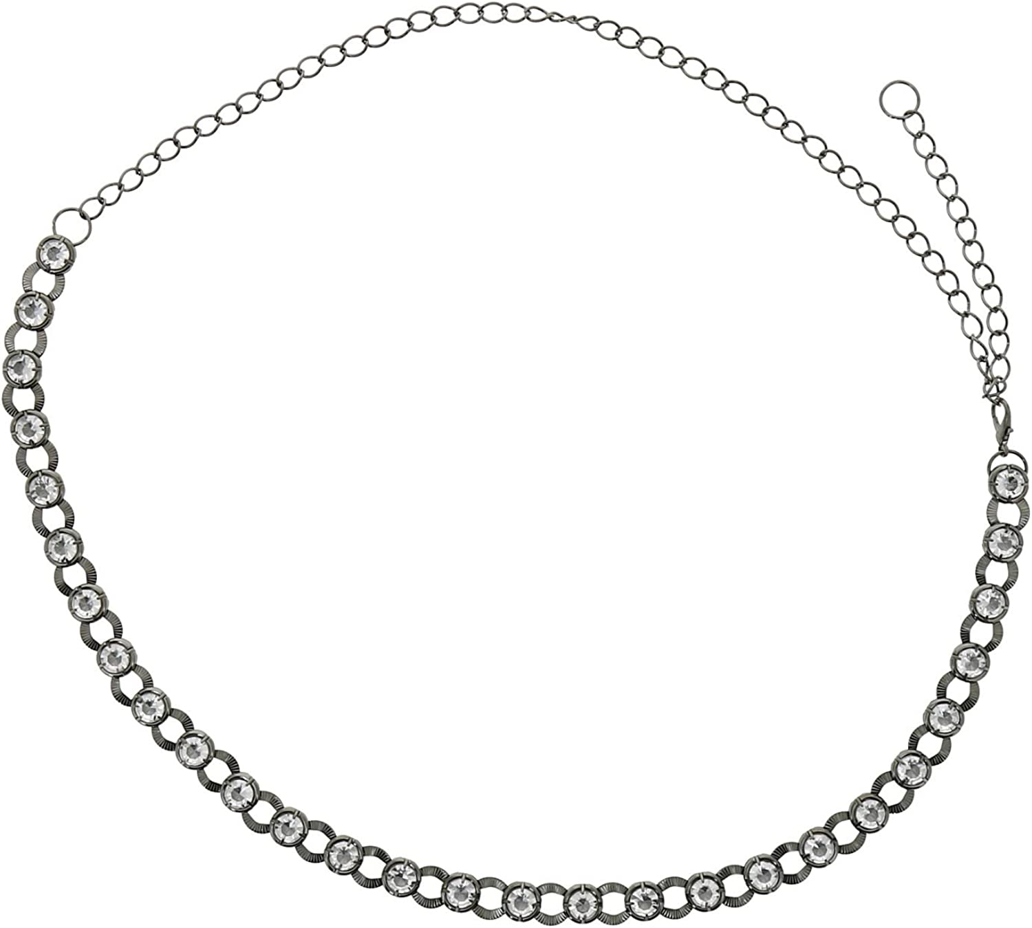 FASHIONGEN Womans Lady Fashion Metal Chain Style Belt with Strass DIDO