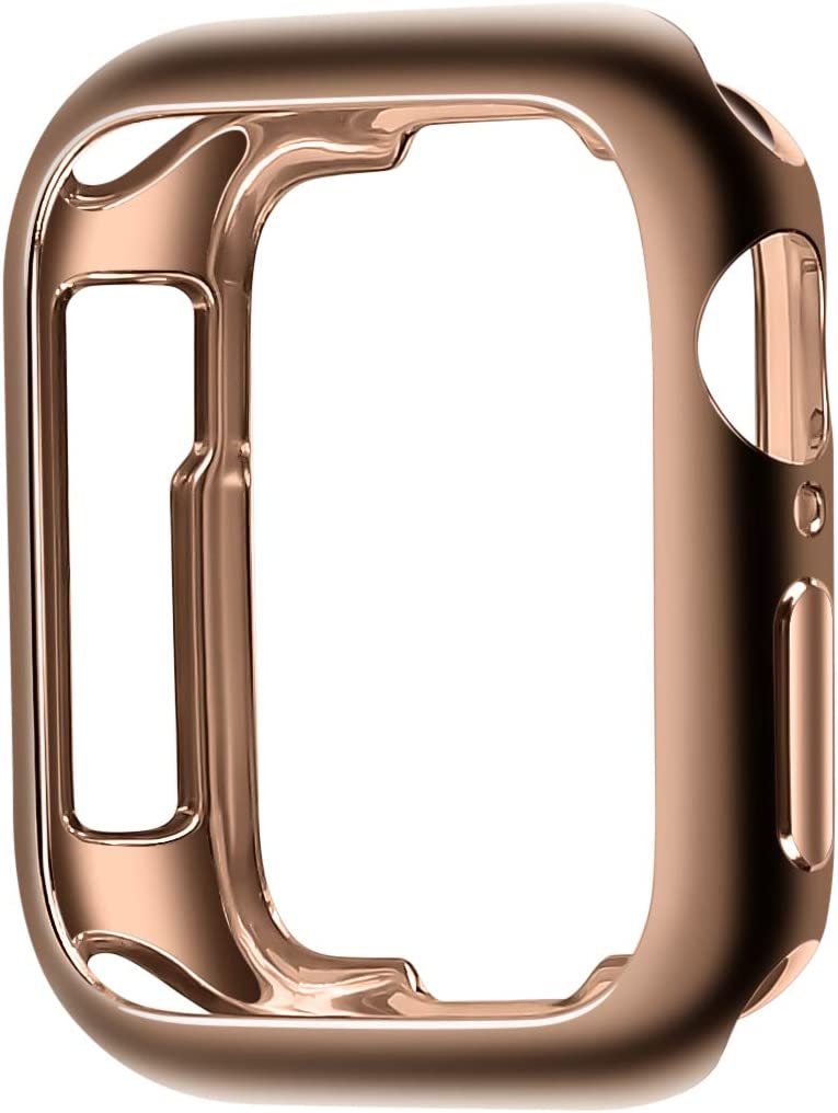 JSGJMY Soft TPU Case Compatible with Apple Watch 38mm 40mm Series 5,Series 4,Series 3,Series 2,Series 1 (Bronze Gold, 38mm/40mm)