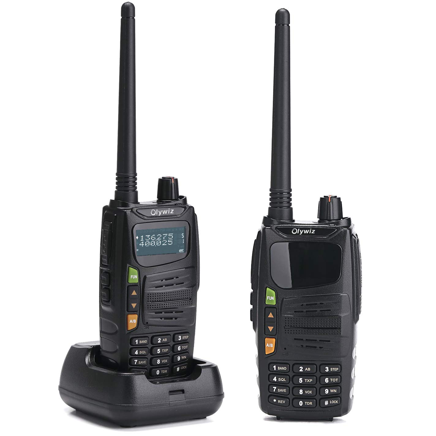 Olywiz 710 Two Way Radio Professional Walkie Talkie High/Low Power Switchable (0.5-5W) 128 Channels Amateur (Ham) Portable Rechargeable 2 Pack
