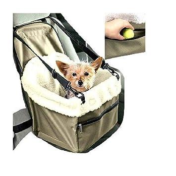 tradeshoptraesio - Transportín Asiento Caseta para Coche Puerta Perro Perros Gato Animales Cesta Cinturón: Amazon.es: Productos para mascotas