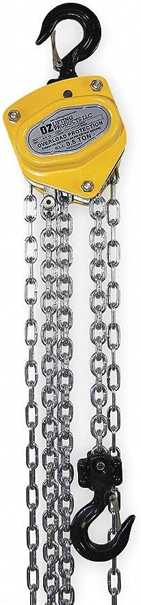 Manual Chain Hoist 1000 Lb Load Capacity 20 Ft Hoist Lift 15 16 Hook Opening Home Improvement