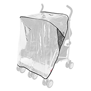 Maclaren Raincover Twin - Protects from rain, Wind and Snow. Fastens Quickly and Easily to All Maclaren Twin Strollers and All Umbrella-fold Double Stroller Brands. Phthalate PVC Free. Easy to Attach