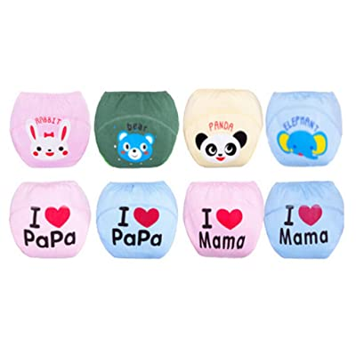5pcs One Pack Cute Baby Pee Potty Training Pants Diaper Nappy Reusable