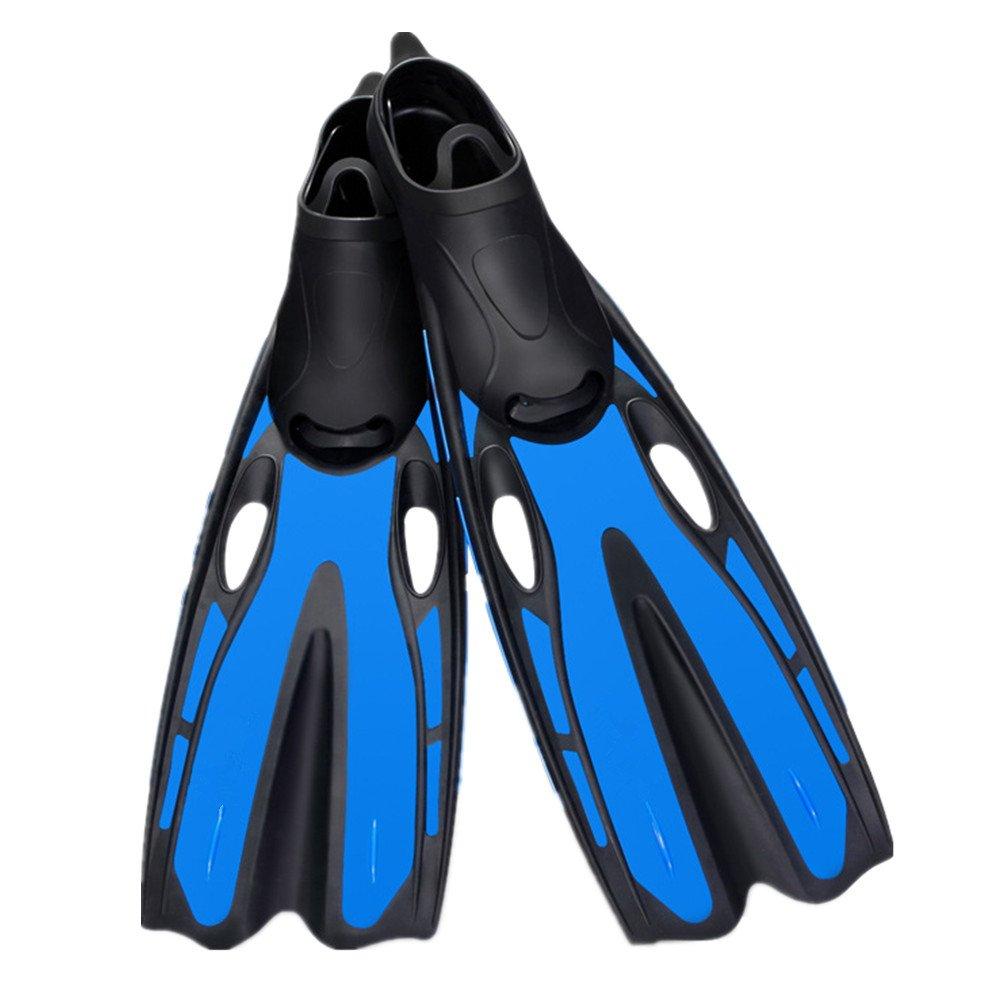 ダイバーズソフト スイミング、スノーケリング、水泳用の軽量スイミングフィンダイビングフィン B07F6CHH12 青 Medium Medium|青